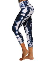 "BUBBLELIME 22"" High/Mid Waist Women's Embossed Pattern Yoga Pants Tummy Control Power Flex Workout Running Leggings"