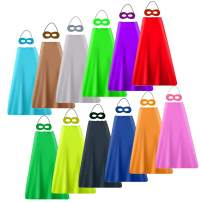 YIISUN Superhero Capes and Masks Birthday Party Dress Up Kids Capes for Boys Girls (12 Pack)