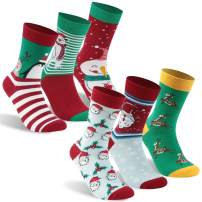 Cartoon Christmas Socks, Hissox Unisex Novelty Cotton Christmas Holiday Casual Gift Socks