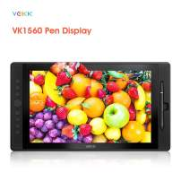VEIKK VK1560 15.6 inch Drawing Tablet with Screen IPS Drawing Monitor with 8192 Levels Battery-Free Pen and Built-in Pen Holder