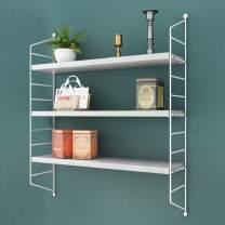 "RANK 3-Tier Display Wall Shelf Adjustable Storage Rack Wall Mounted Floating Shelf Bookshelves (White, 24"" L x 8"" D x30 H)"