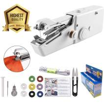 Handheld Sewing Machine Yibaision Portable Stitching Machine Cordless Craft Mini Beginner Sewing Machine Fit DIY Curtains Pet Clothes Home Travel with Extra Bobbin, Needle and Threade