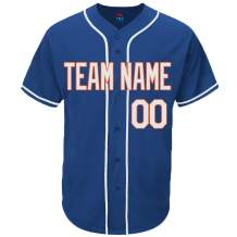 Pullonsy Royal Blue Custom Baseball Jersey for Men Women Youth Practice Sewn Your Name & Numbers S-8XL - Design Your Own