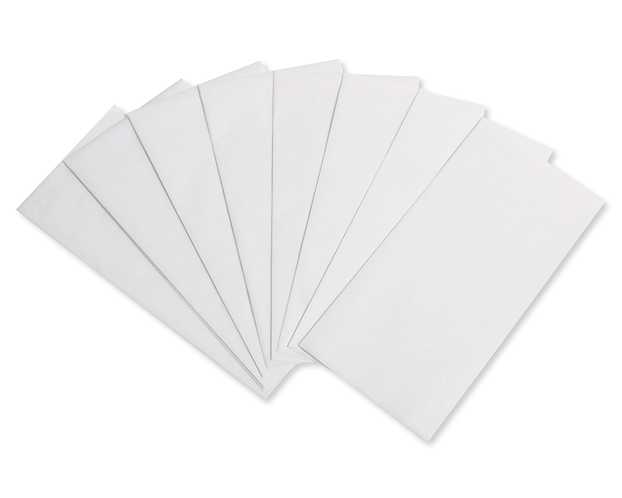 American Greetings White Tissue Paper, Bulk (200-Sheets)