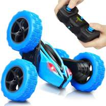 AHIROT RC Cars Remote Control Stunt Car - 2.4GHz 360 Degree Off-Road Double Sided Rotating Tumbling High Speed Rock Crawler Vehicle with Headlights for Kids/Children