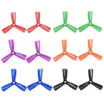 uxcell RC Propellers 3045 3x4.5 Inch CW CCW 3-Vane for Quadcopter Multirotor Multicolor 6 Pairs