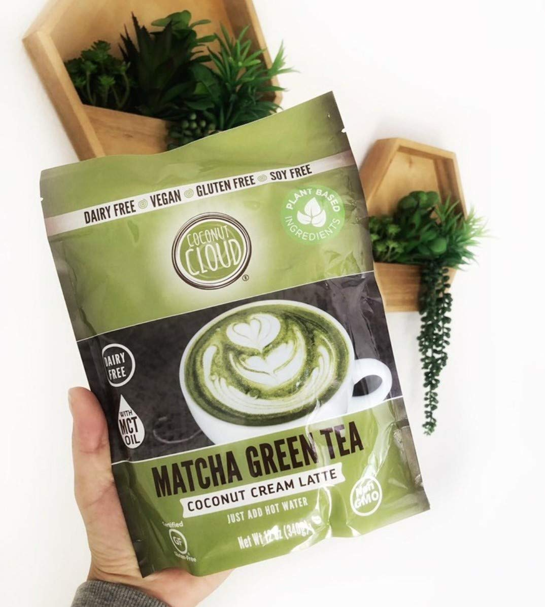 Coconut Cloud: Vegan Matcha Latte   Delicious, Lightly Sweetened made from Green Tea & Coconut Milk Powder, 21 Servings