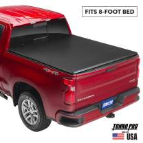 Tonno Pro Tonno Fold, Soft Folding Truck Bed Tonneau Cover | 42-113 | Fits 2014-18, 19 Ltd./Lgcy GMC Sierra & Chevrolet Silverado 1500 8' Bed