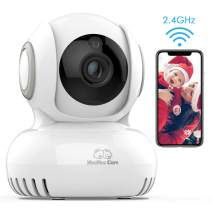 WiFi Baby Monitor, 2.4G Wireless Home Security Camera with Two-Way Audio Motion Detection Night Vision and Temperature Sensors, WiFi Camera for Baby/Pet/Nanny/Elderly Compatible with iOS/Android