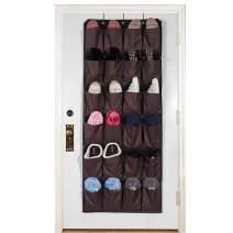 Over The Door Shoe Organizer,Extra Large Pocket Shoe Hanging Holder,Man Woman Shoes Storage Bag with 2 Metal Hooks