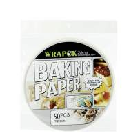 WRAPOK Air Fryer Liner 8 inch Round Perforated Parchment Bamboo Steamer Paper 50 Count Non-stick for Baking Steaming Basket Cooking Cake Pans Circle