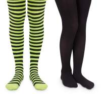Jefferies Socks Girls Stripe Nylon Book Character Costume Tights 2 Pack
