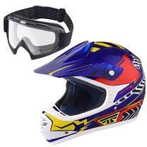 AHR DOT Motocross Helmet Full Face Offroad Dirt Bike Helmet Motorcycle ATV Mountain Bike Outdoor Sports
