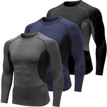 Compression Shirt for Men, Cool Dry Fit Long Sleeve Baselayer Top, Sport Workout Athletic Gym Underwear T Shirts