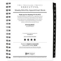 """AT-A-GLANCE 2020 Weekly & Monthly Planner/Appointment Book Refill, 6-1/2"""" x 8-3/4"""", Medium, Executive (7090810)"""