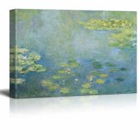 """wall26 - Water Lilies by Claude Monet - Canvas Print Wall Art Famous Painting Reproduction - 16"""" x 24"""""""