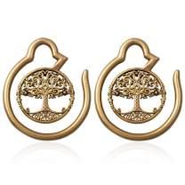 HONGTU Tree of Life Ear Weights Hoop Ear Gauge Expander Plugs Body Piercing Lucky New Jewelry 6g(4mm)