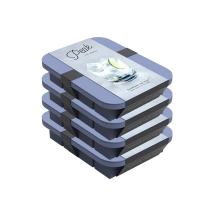 W&P Peak Silicone Everyday Ice Tray w/ Protective Lid | Blue, Set of 4 | Easy to Remove Ice Cubes | Food Grade Premium Silicone | Dishwasher Safe, BPA Free