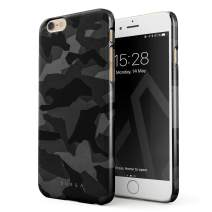 BURGA Phone Case Compatible with iPhone 6 / 6s - Night Urban Black and White Camo Camouflage Cute Case for Women Thin Design Durable Hard Plastic Protective Case