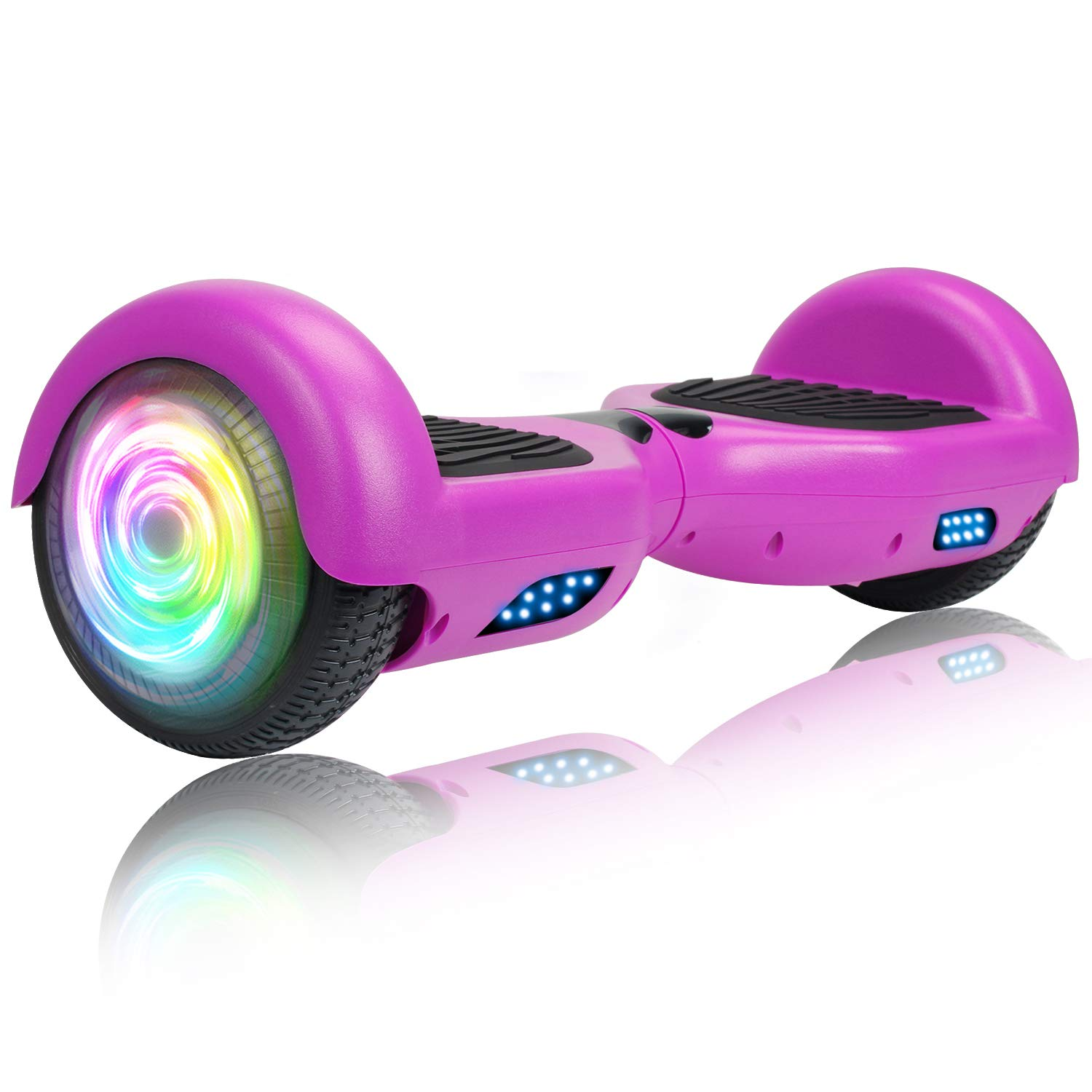 "SISIGAD Hoverboard, Self Balancing Hoverboard, 6.5"" Two-Wheel Self Balancing Scooter, Smart Hover Board for Kids Gift, Adult Electric Scooter, UL 2272 Certified - Pure Color Series (No Bluetooth)"