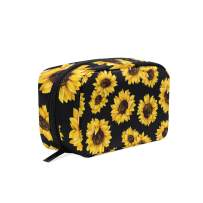 Makeup Bag Sunflower Cosmetic Bag Protable Women Makeup Bag for Brushes