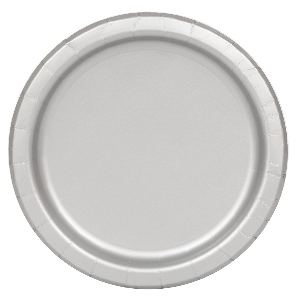 Silver Paper Plates, 8ct
