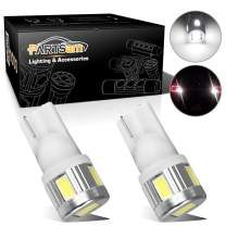 Partsam 2pcs T10 T15 921 168 Backup Reverse Light Lamps Pure White 6000k High Power License Plate Light 5730SMD Led Bulbs Ultra Bright