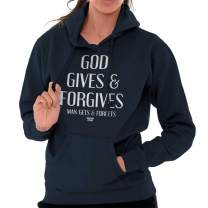God Gives Forgives Cool Christian Christ Hoodie