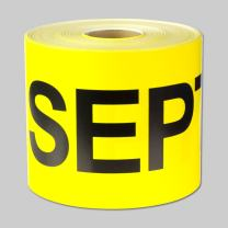 """6"""" x 3"""" - 1 Roll September Months of The Year Labels Color Coding Self Adhesive Stickers (Yellow Black) - 300 Labels per Package"""