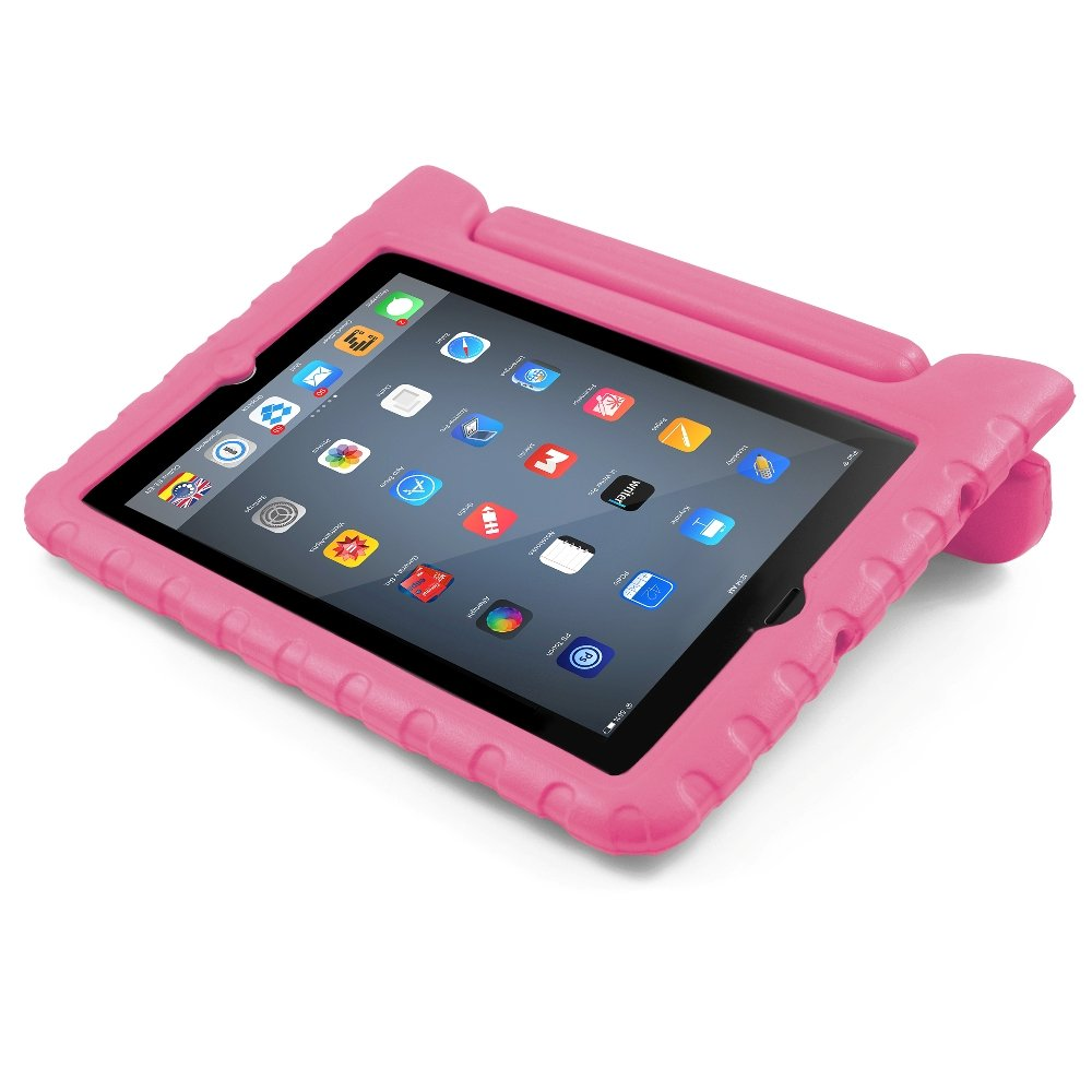 BUDDIBOX iPad Mini Case, [EVA Series] Shock Resistant [Kids Safe][Stand Feature] Carrying Case for Apple Mini iPad 1/2 / 3/4 and Retina, (Pink)