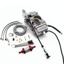 KIPA Carburetor For Mikuni HSR48 HSR 48mm Harley-Davidson Bad Boy Dyna Electra Glide Sportster 1200 Softail, Top Performance, With Carbon Dirt Jet Cleaner Tool Kit & Filter