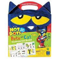 Educational Insights Hot Dots Jr. Pete The Cat - Kindergarten Rocks Set with Interactive Pen Included, 200+ Multi-Subject Activities, Homeschool, Ages 5+