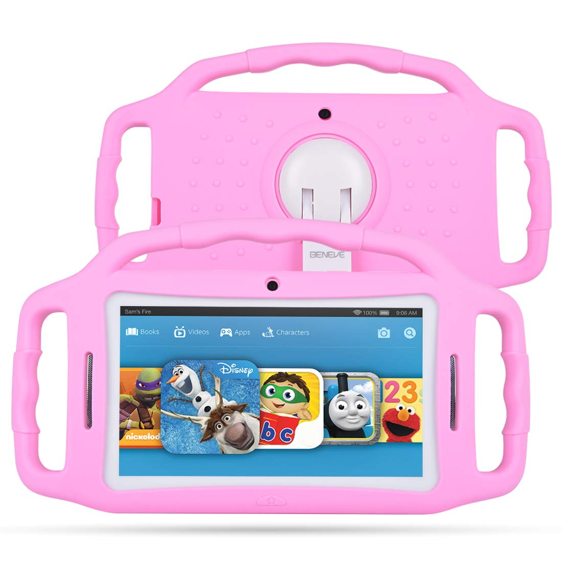 """M7133 Kids Tablets 7"""" Display, Android 7.1 Edition Tablet for Kids, 1GB +8GB Storage, iWawa Pre-Installed, Pink Kid-Proof Case (Pink)"""