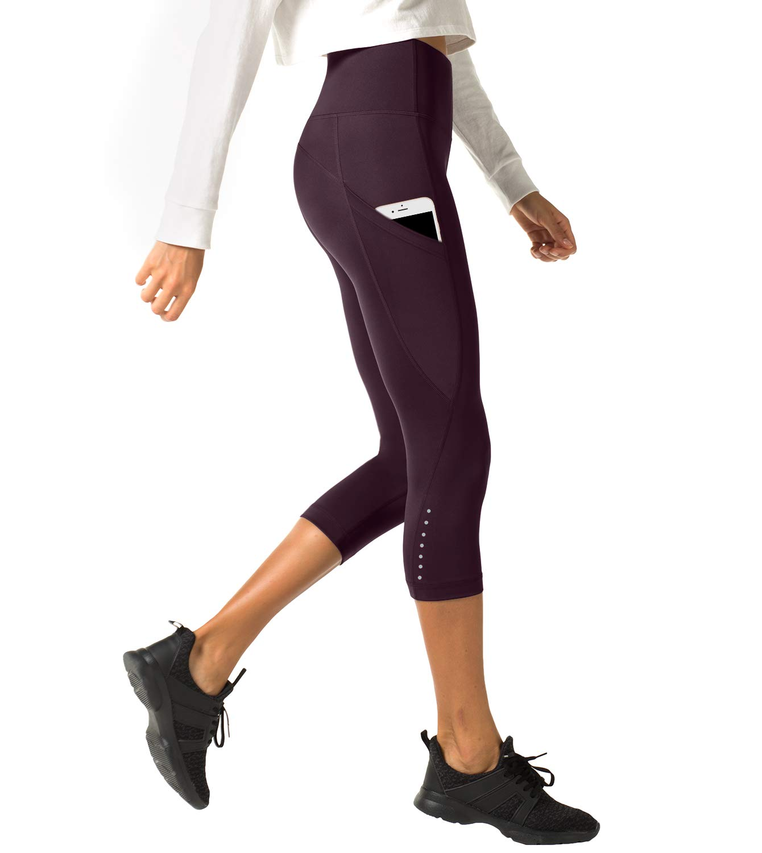 LAPASA High Waist Yoga Pants Capri Tummy Control Sports Leggings Workout Capris L02