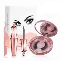 Magnetic Eyelashes Kit, Magnetic Eyeliner With 3D Magnetic False Eyelashes Waterproof Fake Reusable False Eye Lashes with Applicator