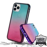 Prodigee [Safetee Flow for iPhone 11] Space Case Purple Blue Clear Transparent Military Drop Shock Test Protective Thin Slim Gradient Multi Color Cover 6.1''