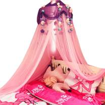 Bed Canopy for Girls, Crib Canopy with Plush Toy Decoration Princess Mosquito Net for Girls Toddlers and Adults Or Over Baby Crib Large Size