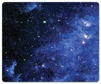 Inked Playmats Blue Nebula PC – Gaming Mouse Pad 13x11""