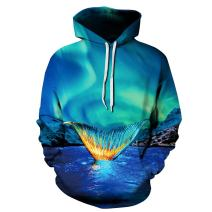 NEWCOSPLAY Unisex Novelty Hooded Sweatshirts 3D Printed Hoodies Colorful Pattern 284