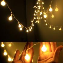 Dailyart Globe String Light,LED Starry Light Fairy Light for Wedding,Xmas Party (Warm White, Battery-powered, 13feet/4meters)