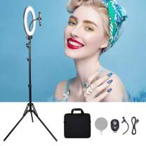 """14"""" Selfie Ring Light Dimmable/High Light Cell Phone Holder 69inch Tripod Stand Bluetooth Remote Makeup Live Stream/Makeup/Selfie/YouTube Video/Photography/Zoom Video (Work with NP-F Series Battery)"""