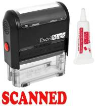 ExcelMark Scanned Self Inking Rubber Stamp - Red Ink with 5cc Refill Ink