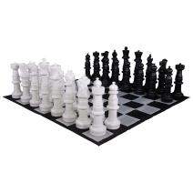 MegaChess Giant Oversized Premium Chess Set with 37 Inch Tall King with Quick Fold Nylon Mat