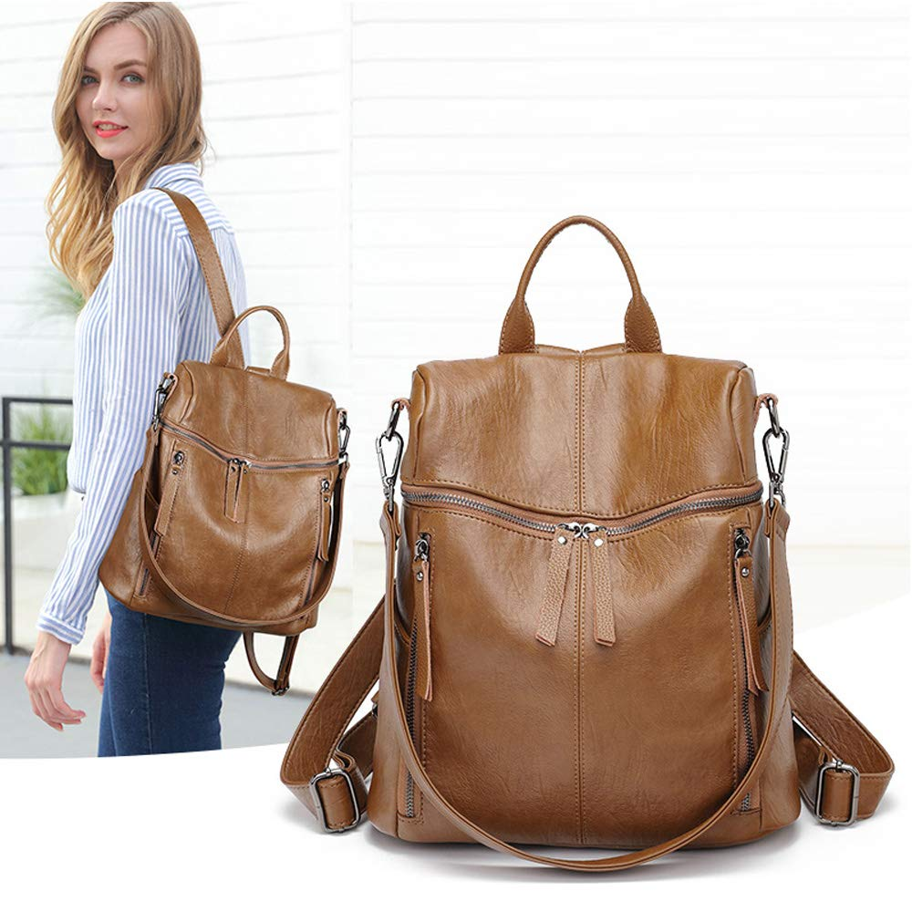 ETRYBEST Women Leather Backpack Fashion Casual Daypack Rucksack Ladies Purse Travel Shoulders Bag