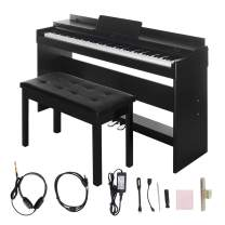 Digital Piano,Les Ailes de la Voix 88 Key Electric Piano Home Piano Electric Keyboard with Cover for Beginner Adults with Bench,3 Pedal Board,Music Stand,Power Adapter, Headphone,Instruction Book