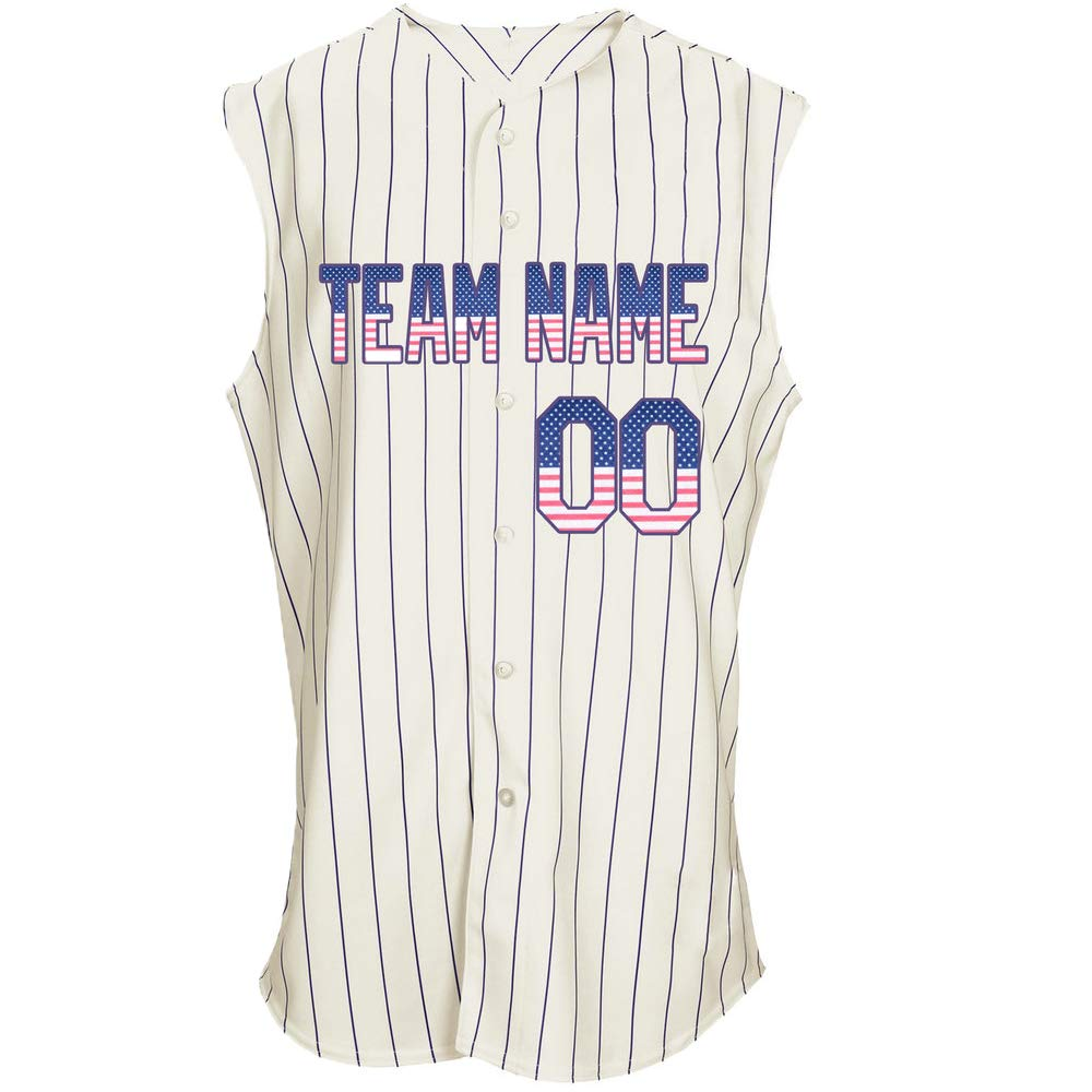 Pullonsy Custom Sleeveless Baseball Jersey for Men Women Youth Embroidered Letters S-8XL - Design Your Own