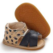 ENERCAKE Infant Baby Girls Sandals Soft Sole T-Strap Toddler Flats First Walkers Summer Shoes