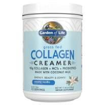 Garden of Life Grass Fed Collagen Creamer Powder - Creamy Vanilla, 12 Servings, Collagen Powder for Coffee Energy Beauty Joints, Collagen Peptides Powder, Coconut MCTs, Collagen Protein Supplements