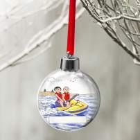 PrintedPerfection.com Personalized Friendly Folks Cartoon Globe Christmas Ornament: Jet Ski Riding Couple