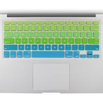 "Allinside Green Blue Ombre Keyboard Cover Skin for MacBook Pro 13"" 15"" 17"" (2015 or Older Version), MacBook Air 13"" A1369/A1466, Older iMac Wireless Keyboard MC184LL/B"